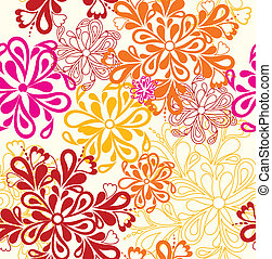 Flower Pattern seamless. Vector on white over