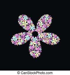 flower pattern with black background