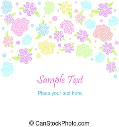 Flower pattern - Vector flower pattern background. Pastel...
