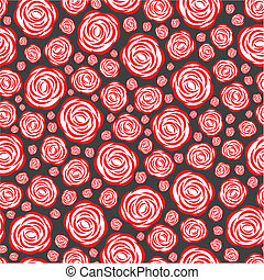 Flower pattern - Vector illustration of seamless pattern...
