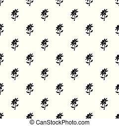 Flower pattern vector seamless