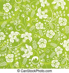 Flower pattern with ladybug, element for design, vector...