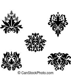 Flower patterns - Black flower patterns for design and...