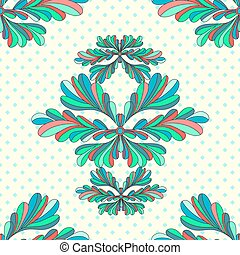 flower petals abstract vector seamless pattern on a geometric background