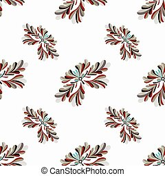 flower petals abstract vector seamless pattern on a white background