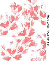 flower petals on white background. Red color.