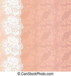 Flower pink on background