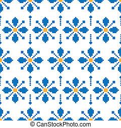 flower pixel pattern