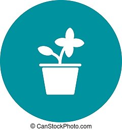 Flower Pot - Flower, pot, beauty icon vector image. Can also...