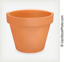 flower pot - Flower pot isolated on white