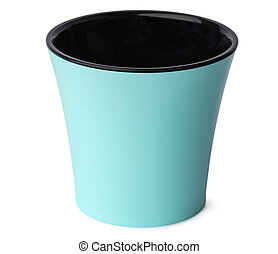 Flower pot for house plant isolated on white