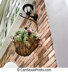 flower pot hanging and lamp
