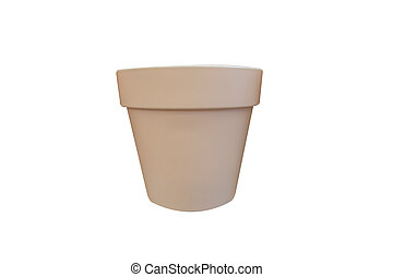flower pot isolated on white background