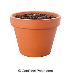 Flower Pot {with clipping path) - Flower Pot with a clipping...