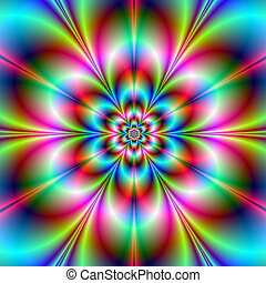 Flower Power - Digital abstract fractal image with a ...