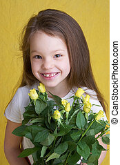flower power - young girl with flowers