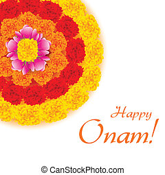 Flower Rangoli for Onam - illustration of flower rangoli...