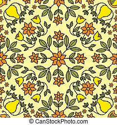 Flower Retro Background