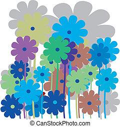 Flower retro card