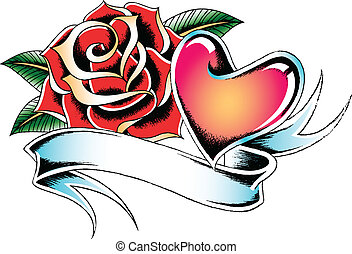 flower ribbon banner