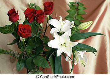 flower rose lilies