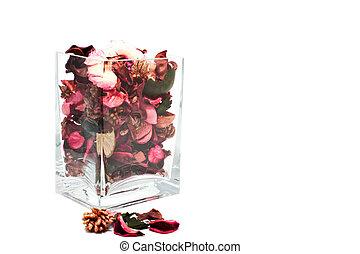 flower sachet in Glass jar