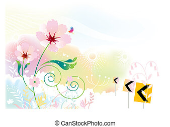 flowers scenery background.
