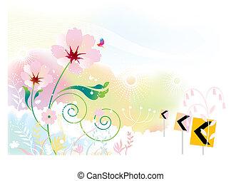 flower scenery - flowers scenery background.