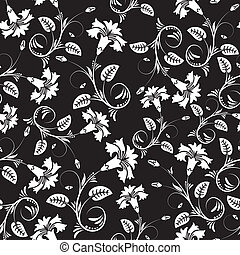 Flower seamless pattern with leaf, element for design,...