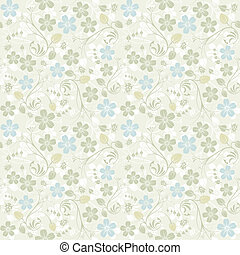 Flower seamless pattern with ladybug, element for design, ...
