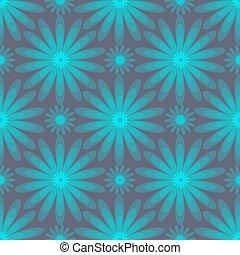 Flower seamless retro background. Vector illustration.