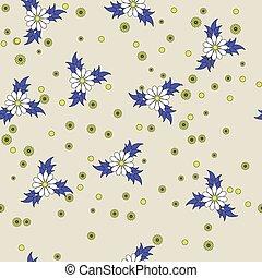 Flower seamless vector background.