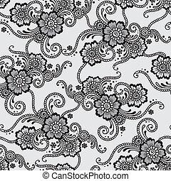 Flower seamless vector ornament