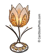 Flower shaped candlestick with candle