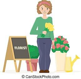 Flower shop illustration