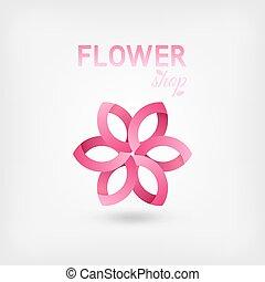 flower shop logo design pink color