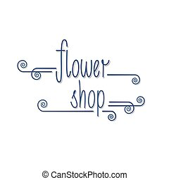 Flower shop logo vector. Florist background