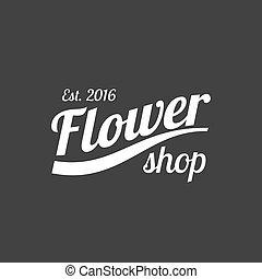 Flower shop vector logo