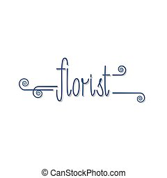 Flower shop vector logo. Floral sign