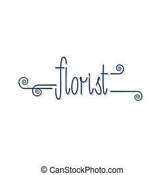 Flower shop vector logo. Floral sign