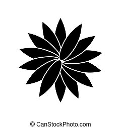 Flower sign. Flat style black icon on white.