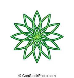 Flower sign. Vector. Lemon scribble icon on white background. Isolated