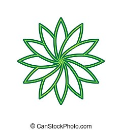 Flower sign. Vector. Lemon scribble icon on white background. Isolated