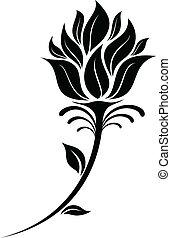 Flower Silhouette - illustration of Flower silhouette