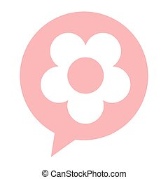 flower silhouette isolated icon