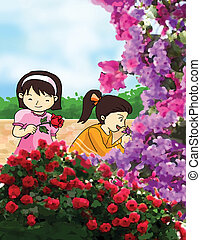 flower smell illustration