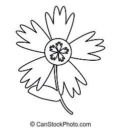 Spring flower outline on white background flower spring decoration outline mightylinksfo