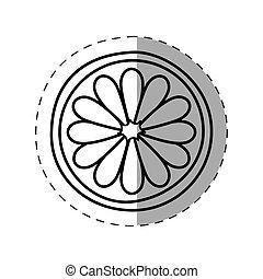 flower spring symbol monochrome
