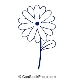 flower stem petal decoration isolated icon design line style