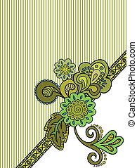 Flower striped card